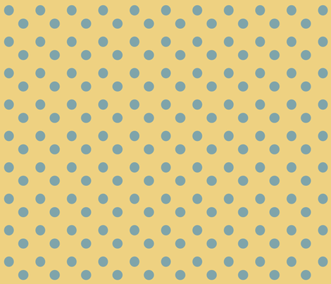 Teal___Yellow_Polka_Dots fabric by lana_gordon_rast_ on Spoonflower - custom fabric
