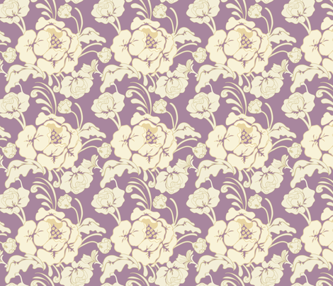 Purple_Damask fabric by lana_gordon_rast_ on Spoonflower - custom fabric