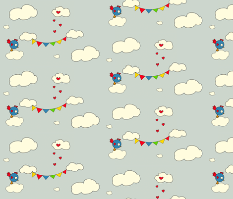 Somewhere over the Rainbow fabric by anikabee on Spoonflower - custom fabric