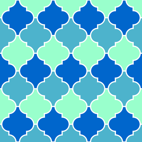 c-rhombus 3 - ocean fabric by sef on Spoonflower - custom fabric
