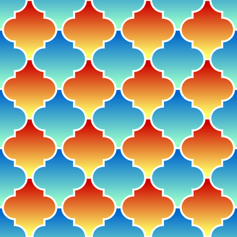 c-rhombus 2 - hot and cold fabric by sef on Spoonflower - custom fabric