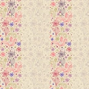 Vintage pattern of flowers