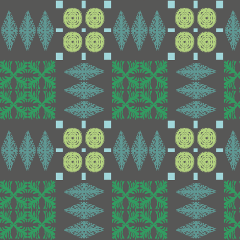 welsh-blanket-charcoal fabric by bee&lotus on Spoonflower - custom fabric