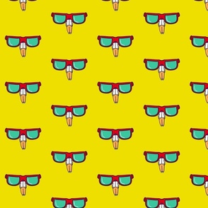 pattern of men with glasses