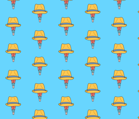 Cute man with the hat fabric by justmarie on Spoonflower - custom fabric