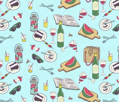 messy picnic fabric by ravynka on Spoonflower - custom fabric