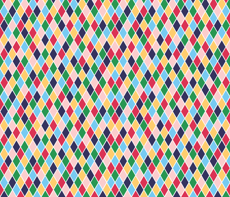 Rainbow harlequin diamonds fabric by little_fish on Spoonflower - custom fabric