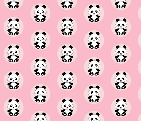 Jingjing's Panda Dots Light Pink fabric by aimee on Spoonflower - custom fabric