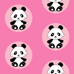 Jingjing's Panda Dots Pink