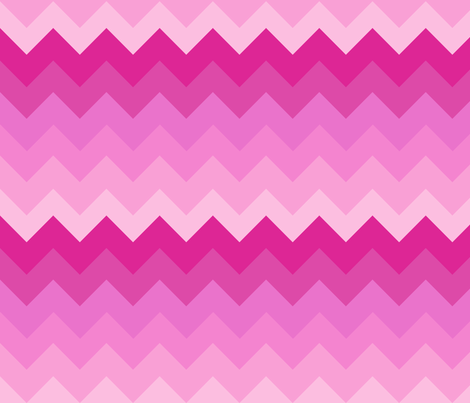 Big Ombre Chevrons - PINK fabric by veritymaddox on Spoonflower - custom fabric