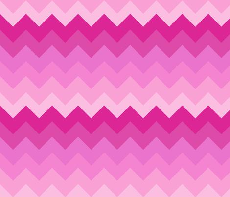 Big Ombre Chevrons - PINK