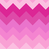 Big Ombre Chevrons - PINK