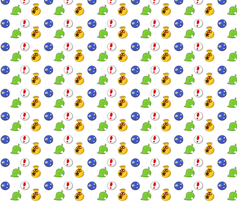 Animal Crossing Items fabric by lovelylatte on Spoonflower - custom fabric