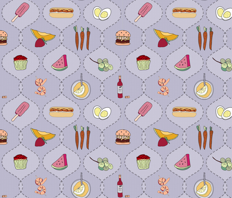 Summer Picnic Fun fabric by karen_burton on Spoonflower - custom fabric