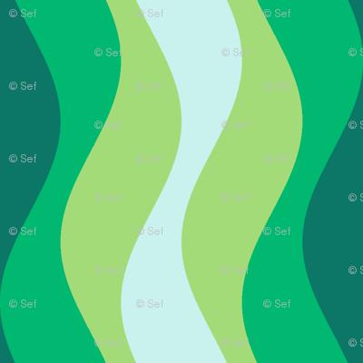 sine wave - rippling seaweed