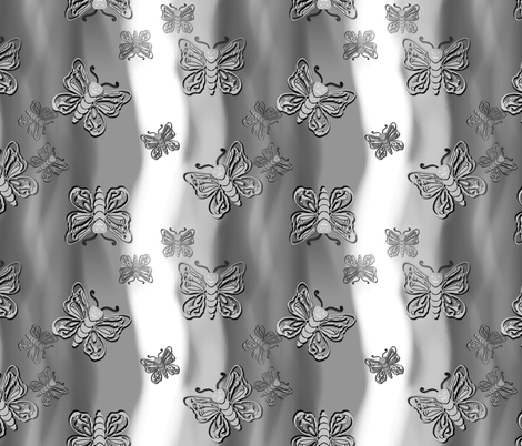 butterfliesspoo2 fabric by trgatesart on Spoonflower - custom fabric