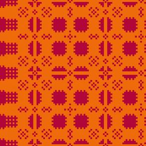 Welsh Picnic Blanket Fire Red - Light
