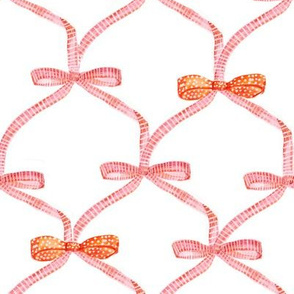 pink orange bow trellis