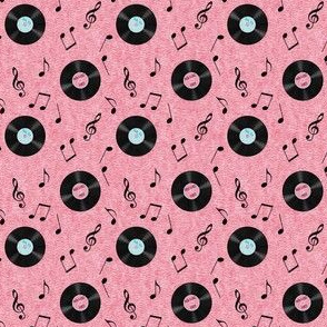 Fab 50s Music Notes and Records