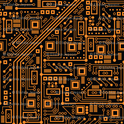 Evil Robot Circuit Board (Orange)