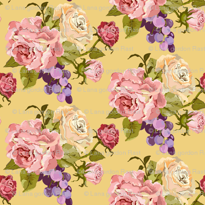 Vintage Rose_yellow