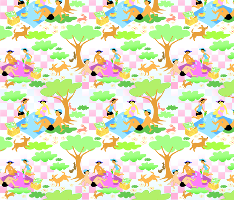 Forest Picnic fabric by vinpauld on Spoonflower - custom fabric