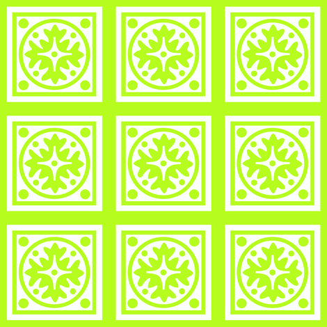 CITRUS_MOTIF_LIME fabric by mammajamma on Spoonflower - custom fabric
