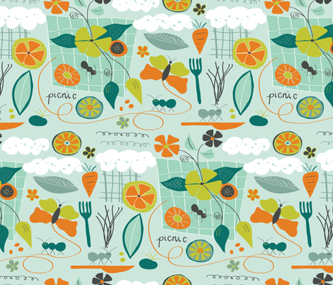 Picnic Adventures fabric by lisaquarterman on Spoonflower - custom fabric