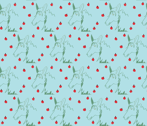 blue_horse_and_apples fabric by sealife on Spoonflower - custom fabric