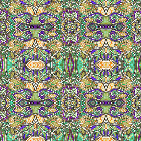 Paisley and Oval Abstract # 2192402 fabric by edsel2084 on Spoonflower - custom fabric