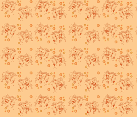 Rustwork Carousel Horse fabric by vos_designs on Spoonflower - custom fabric