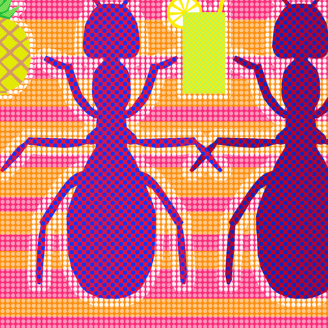 Picnic Ants fabric by rubydoor on Spoonflower - custom fabric