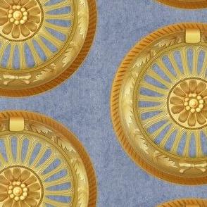 WREATH ornament - blue 5inch