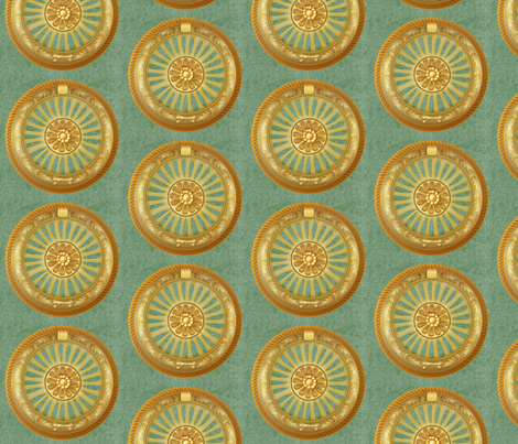 WREATH ornament - green 5inch fabric by glimmericks on Spoonflower - custom fabric