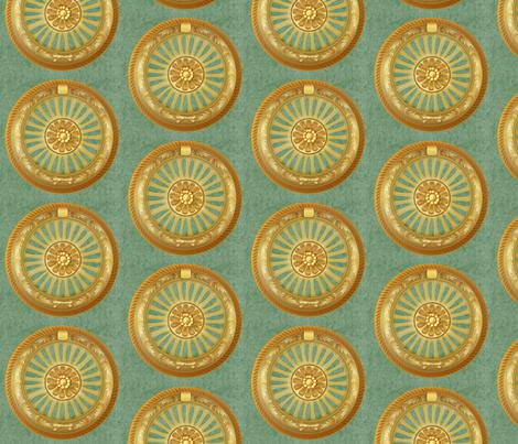 WREATH ornament - green 5inch fabric by glimmericks on Spoonflower - custom fabric