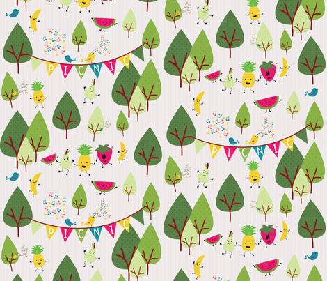 Picnic dancers fabric by nuneskarla on Spoonflower - custom fabric