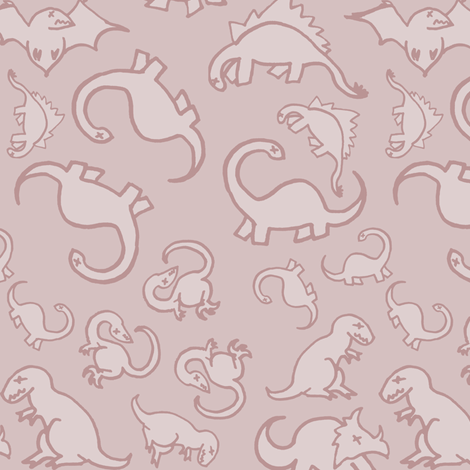 Dinosaur Fossils Final fabric by pond_ripple on Spoonflower - custom fabric