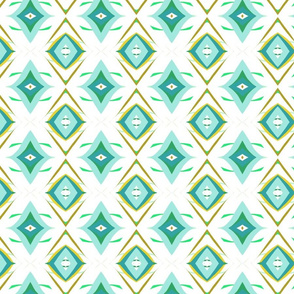 Retro Diamond in Aqua