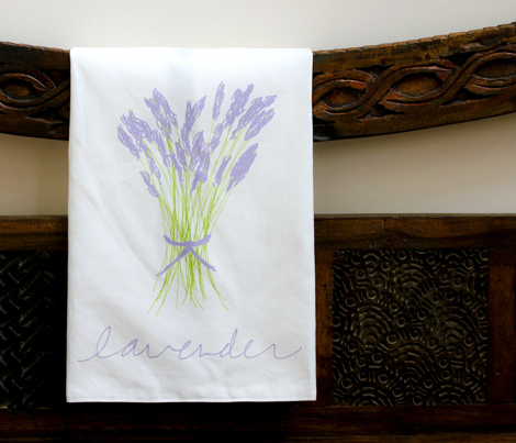 Lavender tea towel (rotated)