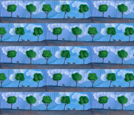 run_on_the_open_road-2 fabric by timaroo on Spoonflower - custom fabric