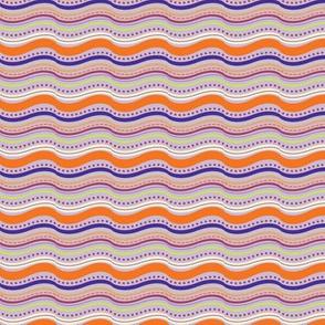 Elephant's Garden (Tangerine Violet) - Stripes