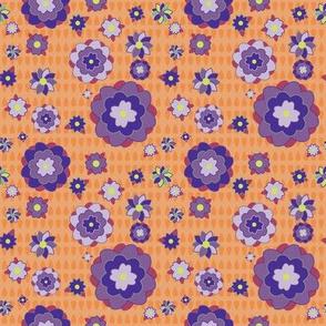 Elephant's Garden (Tangerine Violet) - Scattered Flowers