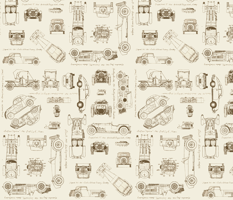 auto brown/grey fabric by savannahlindsay on Spoonflower - custom fabric