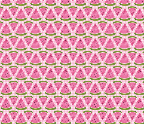 watermelonpicnic fabric by pinkpolkadots on Spoonflower - custom fabric