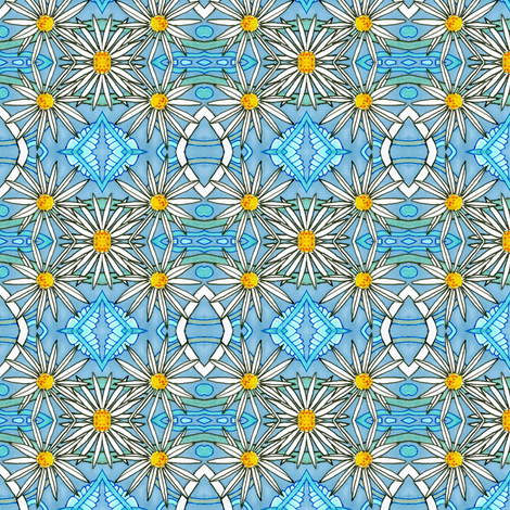 Lazy Daisy fabric by edsel2084 on Spoonflower - custom fabric