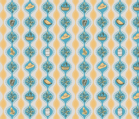 picnic and party pests fabric by sarawhodraws on Spoonflower - custom fabric