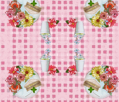Floral picnic fabric by fantazya on Spoonflower - custom fabric