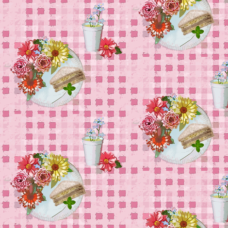 Floral picnic fabric by lucybaribeau on Spoonflower - custom fabric