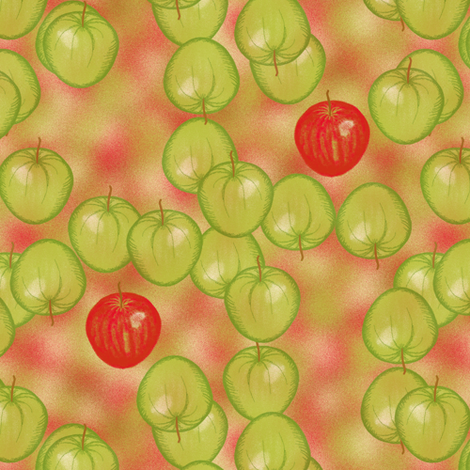 Apples away fabric by su_g on Spoonflower - custom fabric