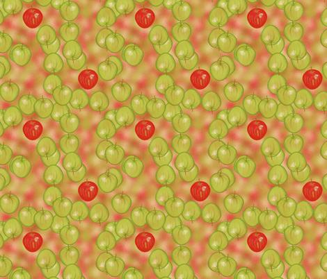 Apples away by Su_G fabric by su_g on Spoonflower - custom fabric